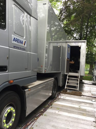 OB truck for Queen at 90 production