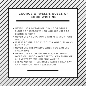 Orwell's Rules of Good Writing